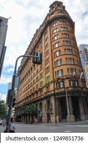SYDNEY, AUSTRALIA. – On Jan 26 , 2011. - Traditional heritage architecture and a vintage sandstone facade building of the Radisson Blu Plaza Hotel Sydney.