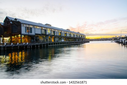 SYDNEY, AUSTRALIA. – On August 2, 2017 - The Walsh Bay Wharves Precinct is a heritage-listed former wharf precinct, now converted to hospitality and entertainment purposes, at Hickson Road.