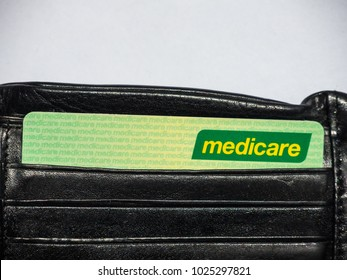 SYDNEY, AUSTRALIA – On February 15, 2018. - Medicare card is a publicly funded universal health care system in Australia, the image shows the card in a black wallet.