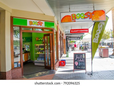 SYDNEY, AUSTRALIA. – On January 12, 2018. - Boost Juice is one of Australia's most famous of retail outlets that specialise in selling fruit juice and smoothies.