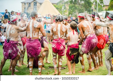 """SYDNEY, AUSTRALIA – On January 26, 2018. – An ancient custom""""smoking ceremony"""" among  Indigenous Australians that involves burning plants to produce smoke which is believed to cleansing properties."""