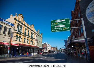 SYDNEY, AUSTRALIA. - On June 09, 2019. - The cityscape view of Newtown on King Street, one of many historic buildings in New South Wales, is known for its history.