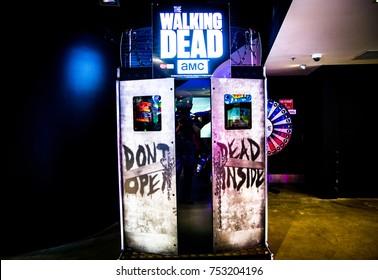 SYDNEY, AUSTRALIA. – On November 11, 2017. - The walking dead arcade game at City Amusements Level 3 Market City.
