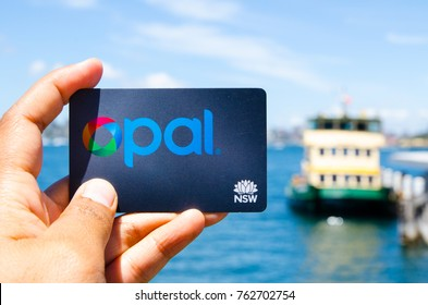 SYDNEY, AUSTRALIA. – On November 26, 2017. - Opal card is a contactless smartcard ticketing system for public transport services in the greater Sydney area, the image at ferry wharf.
