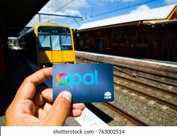SYDNEY, AUSTRALIA. – On November 26, 2017. - Opal card is a contactless smartcard ticketing system for public transport services in the greater Sydney area, the image at railway station.