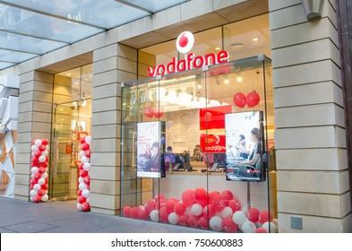 SYDNEY, AUSTRALIA. – On November 7, 2017. - Vodafone mobile phone store shopfront at Pitt St. mall, Sydney CBD.