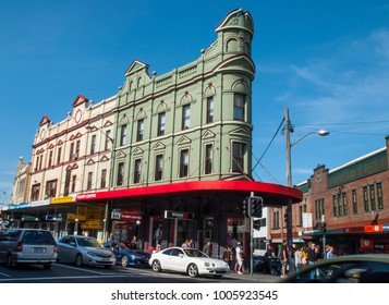 SYDNEY, AUSTRALIA – On September 16, 2012. – Green heritage building landmark of newtown, NSW.