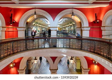 Sydney Australia. Queen Victoria Building Mall. Sydney Australia August 2019