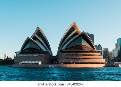 SYDNEY, AUSTRALIA - SEPTEMBER 17, 2017: Iconic Sydney Opera House viewed from ferry in Sydney Harbour