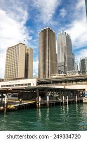 Sydney, Australia - September 19: View of the Quay area near the CBD in Sydney, Australia on September 19, 2014.