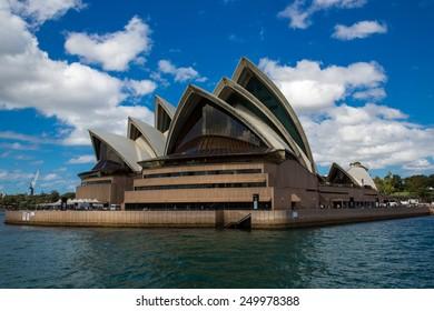 Sydney, Australia - September 21: View of the Opera House, an iconic landmark in Sydney, Australia on September 21, 2014.