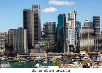 Sydney, Australia - September 21: View of the CBD skyline in Sydney, Australia on September 21, 2014.
