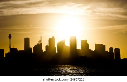 Sydney Australia skyline at sunset