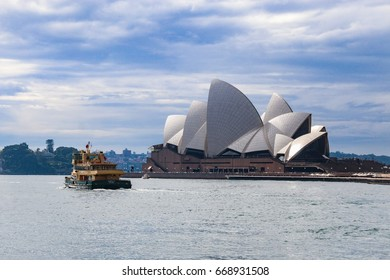 SYDNEY, AUSTRALIA - Thursday 29June 2017: The Iconic Sydney Opera house in Circular Quay. Sydney Opera house is considered as the major landmark of Sydney and tourists attraction.