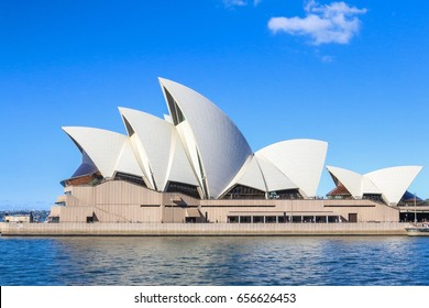 In SYDNEY, AUSTRALIA - Wednesday24 May2017: The Iconic Sydney Opera house in Circular Quay. Sydney Opera house is considered as the major landmark of Sydney and tourists attraction.Holiday concept.