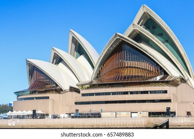 SYDNEY, AUSTRALIA - Wednesday24 May2017: The Iconic Sydney Opera house in Circular Quay. Sydney Opera house is considered as the major landmark of Sydney and tourists attraction.