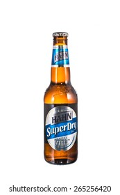 SYDNEY ,AUSTRALIA-MARCH 31, 2015:Bottle of Hahn super dry. Hahn superdry is a brewery in Sydney, New South Wales, Australia. It produces beers and ciders under the Tooheys and Hahn trademarks