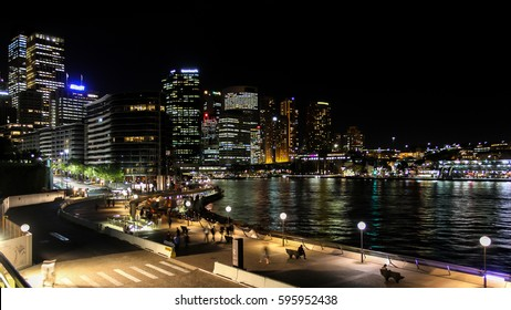 Sydney Central Business District and Circular Quay night view, Sydney, Australia