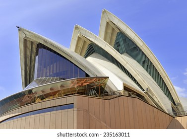 SYDNEY - CIRCA NOVEMBER 2014.  The Sydney Opera House is an epicenter of performing arts which draws tourists from around the globe contributing to the recent rapid increase in tourism in Australia.