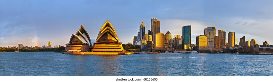 Sydney circular quay extra large panorama