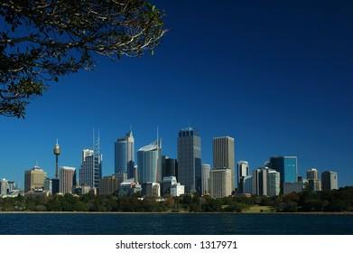 Sydney City Against Blue Sky