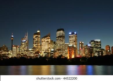 Sydney City at night.