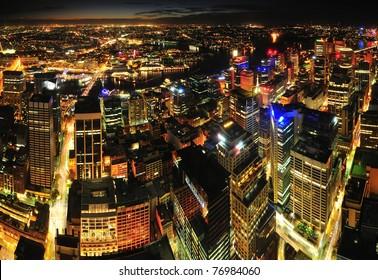 Sydney city night view
