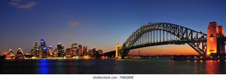 Sydney city in twilight