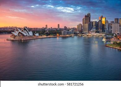 Sydney. Cityscape image of Sydney, Australia during sunrise.