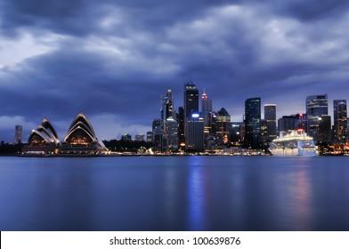 Sydney cityscape at night 2012