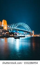 Sydney Cityscape Skyline at Night