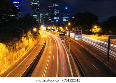 Sydney Eastern Distributor at night