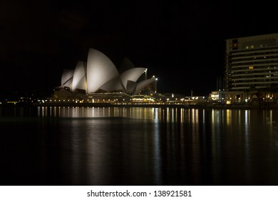 SYDNEY - FEB. 20: Sydney Opera House in Sydney at night on Feb. 20th 2013. The Opera House was made a UNESCO World Heritage Site on 28 June 2007 and is one of the world's most famous landmarks.