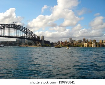 SYDNEY - FEBRUARY 16: The Sydney Harbour Bridge was open to the public in 1932. It is the fifth longest spanning arch-bridge in the world. Pictured on February 16, 2008 in Sydney, Australia NSW.