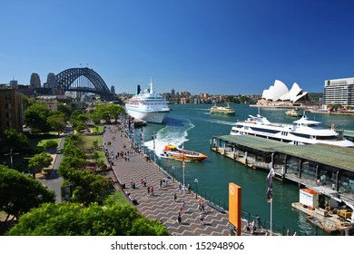 SYDNEY - February 5: Circular Quay in Sydney, Australia on September 5, 2008. Sydney is the capital of New South Wales and the most populated city in Australia.