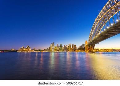 Sydney Harbor Landscape at Night