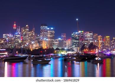 Sydney Harbor on new year eve