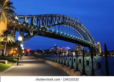 Sydney Harbour Bridge, Sydney, Australia at night