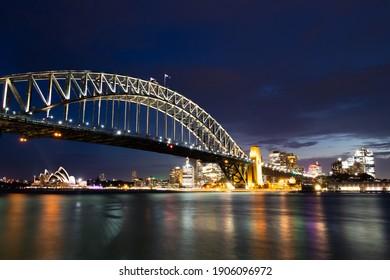 Sydney Harbour Bridge in Blue Hour