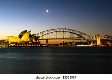 Sydney Harbour Bridge and Opera House.