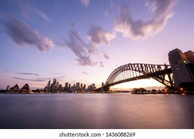 Sydney Harbour Bridge Sunset Australia