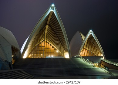 SYDNEY HARBOUR - JAN 17 : Sydney Opera House in Sydney, Australia on January 17, 2009. 40 years after designer Joern Utzon was forced off the site, he will be honored at a memorial service.