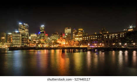 Sydney Harbour at night scenery