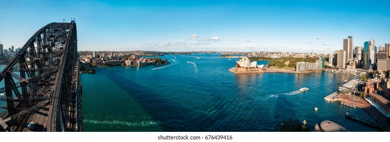 Sydney Harbour Panorama including partially North Sydney