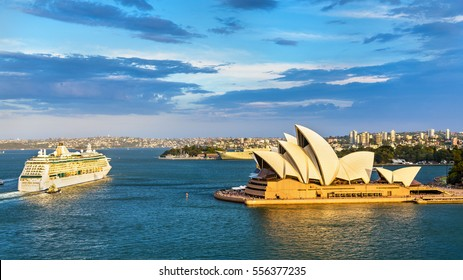 Sydney Harbour as seen from the Harbour Bridge - Australia, New South Wales