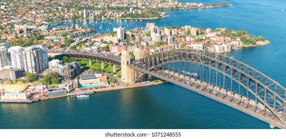 Sydney Harbour. Stunning aerial view on a sunny day.