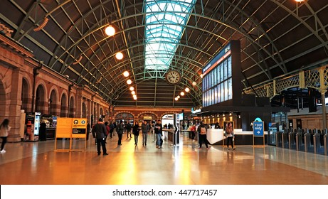 SYDNEY - JULY 3, 2016:The largest railway station in Australia, Interior of Sydney Central Station. it is the busiest station in New South Wales