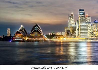 SYDNEY - JUN 14: Sydney downtown along the area of Sydney Opera House on 14 June, 2017.