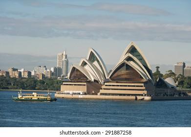 SYDNEY - JUNE 26: Sydney Opera House view on June 26, 2015 in Sydney, Australia. The Sydney Opera House is a famous arts center. It was designed by Danish architect Jorn Utzon.