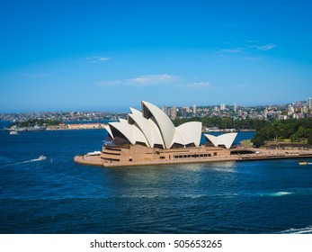 SYDNEY - MARCH 3: Opera House View from Harbour Bridge on March 3, 2016 in Sydney, Australia